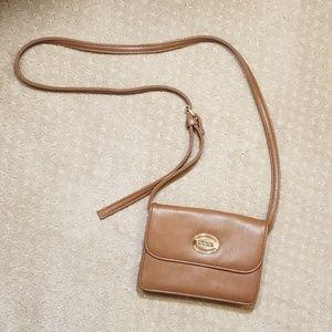 Kenneth Cole Reaction Brown Leather Crossbody Bag